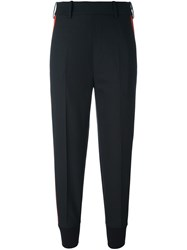 Neil Barrett Side Stripe Tapered Trousers Black