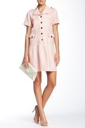 Orla Kiely Basket Weave Drop Waist Dress Pink