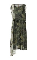Antonio Marras Short Sleeve Asymmetrical Camouflage Dress Olive