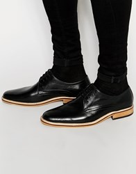 Dune Lace Up Shoes In Tan Leather Black