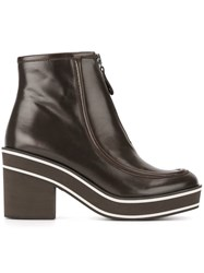 Paloma Barcelo Chunky Heel Ankle Boots Brown