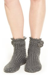 Lemon Women's 'Peppermint' Slipper Socks With Faux Fur Lining Flannel