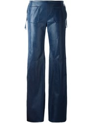 Maison Martin Margiela Mm6 Flared Trousers Blue