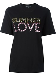 Markus Lupfer Summer Love Embellished 'Kate' T Shirt Black