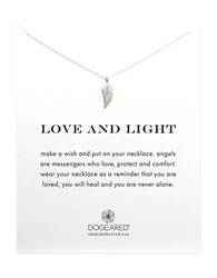 Dogeared Reminder Love And Light Sterling Silver Guardian Angel Wing Necklace