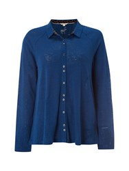 White Stuff Annetta Jersey Shirt Blue