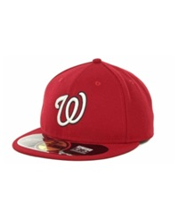 New Era Washington Nationals Authentic Collection 59Fifty Hat Red