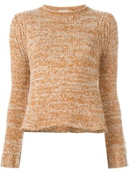 See By Chloe Marled Jumper Yellow And Orange