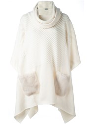 Malo Broad Roll Neck Pullover Nude And Neutrals