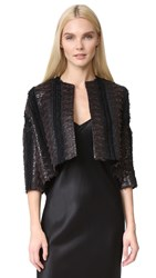 Zero Maria Cornejo Long Sleeve Koy Shrug Black