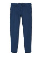 Mango Barna5 Slim Fit Cotton Chinos Dark Blue