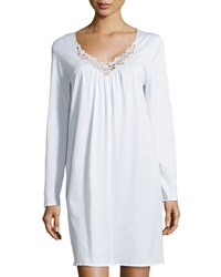 Hanro Roma Long Sleeve Gown White