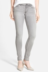 Halogen Plain Pocket Stretch Skinny Jeans Gray