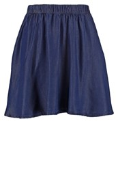 Noisy May Nmalex Denim Skirt Dark Blue Denim