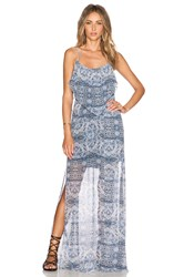 Bcbgeneration Double Slit Maxi Dress Blue