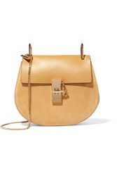 Chloe Drew Small Leather And Suede Shoulder Bag Yellow