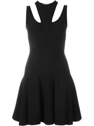 Alexander Mcqueen Cut Out Detailed Dress Black
