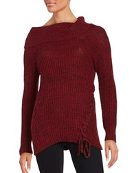 Jessica Simpson Gwenore Knit Sweater Red