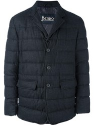 Herno Flap Pockets Quilted Jacket Grey