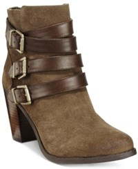 Inc International Concepts Laini Block Heel Booties Only At Macy's Women's Shoes Mushroom