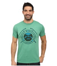 Marmot Top Rock Short Sleeve Tee Green Heather Men's Clothing