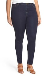 Plus Size Women's Michael Michael Kors 'Jetset' Stretch Skinny Jeans Twilight Wash