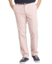 Izod Men's Belted Seersucker Pants Nantucket Red