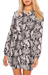 Missguided Women's Snake Print Shirtdress