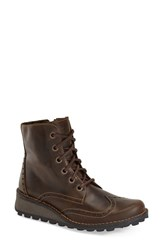 Women's Fly London 'Marl' Wedge Boot Dark Brown Rug Leather