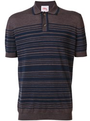 Orley Striped Polo Shirt Brown