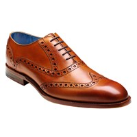 Barker Grant Calf Leather Brogue Shoes Cedar