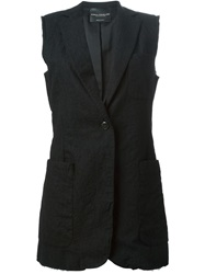Erika Cavallini Semi Couture Sleeveless Blazer Black