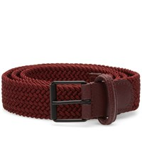 Andersons Anderson's Slim Woven Textile Belt Red