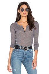 Obey Westling Henley Top Charcoal