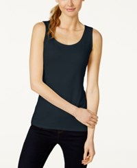 Charter Club Petite Sleeveless Shell Only At Macy's Deepest Navy
