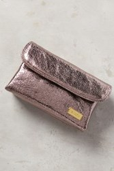 Anthropologie Gleaming Cosmetic Case Carbon