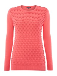 Pied A Terre Textured Front Jumper Pink