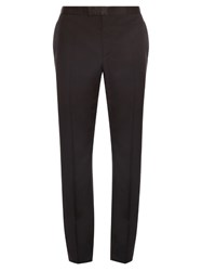 Alexander Mcqueen Slim Fit Wool And Mohair Blend Tuxedo Trousers
