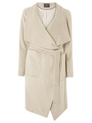 Dorothy Perkins Drawn Waterfall Coat Cream