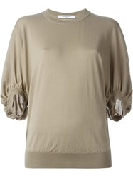 Givenchy Ruffled Sleeve Sweater Nude And Neutrals