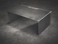 John Beck Paper And Steel Raw Steel Long Coffee Table