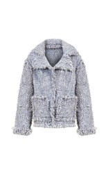 Lalo Handmade Tweed Jacket Light Grey