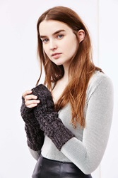 Urban Outfitters Slouchy Cable Armwarmer Grey
