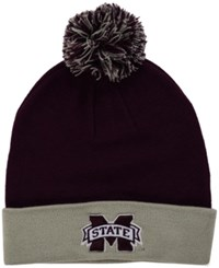 Top Of The World Mississippi State Bulldogs 2 Tone Pom Knit Hat