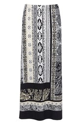 Wallis Petite Neutral Paisley Maxi Skirt Stone
