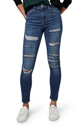 Topshop Women's 'Jamie' Ripped High Rise Skinny Jeans
