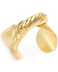 Bar Iii Gold Tone Twisted Metal Cuff Bracelet