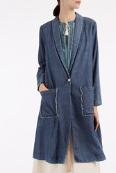 Raquel Allegra Denim Duster Coat