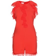 Giamba Crepe Playsuit Red