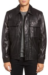Marc New York Men's By Andrew Andover Leather Bomber Jacket